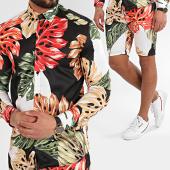 /achat-ensembles-survetement/ikao-ensemble-short-chemise-f870-noir-floral-213307.html