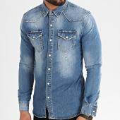 /achat-chemises-manches-longues/mackten-chemise-jean-manches-longues-ca-630k-bleu-denim-213455.html