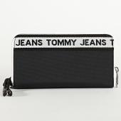 /achat-portefeuilles/tommy-jeans-portefeuille-femme-logo-tape-nylon-8263-noir-213425.html