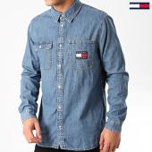 /achat-chemises-manches-longues/tommy-jeans-chemise-en-jean-manches-longues-denim-badge-7918-bleu-denim-213433.html