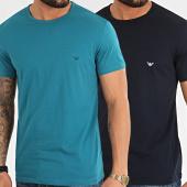 /achat-t-shirts/emporio-armani-lot-de-2-tee-shirts-111267-0p722-turquoise-bleu-marine-213587.html