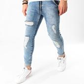 /achat-jeans/siksilk-jean-skinny-elasticated-waist-15905-bleu-denim-213628.html