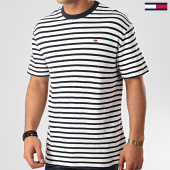 /achat-t-shirts/tommy-hilfiger-jeans-tee-shirt-tommy-stripe-7808-blanc-bleu-marine-213743.html
