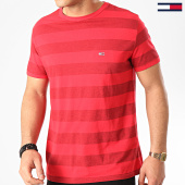 /achat-t-shirts/tommy-hilfiger-jeans-tee-shirt-a-rayures-bold-stripe-7810-rouge-213747.html