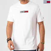 /achat-t-shirts/tommy-hilfiger-jeans-tee-shirt-embroidered-box-logo-7868-blanc-213758.html