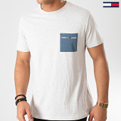 /achat-t-shirts-poche/tommy-hilfiger-jeans-tee-shirt-poche-contrast-pocket-8097-gris-chine-213767.html