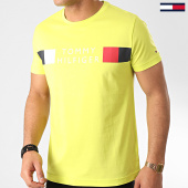/achat-t-shirts/tommy-hilfiger-tee-shirt-rwb-box-outline-3330-vert-fluo-213864.html