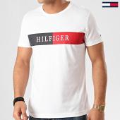 /achat-t-shirts/tommy-hilfiger-tee-shirt-block-stripe-3331-blanc-213873.html