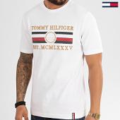 /achat-t-shirts/tommy-hilfiger-tee-shirt-icon-stripe-3341-blanc-213882.html