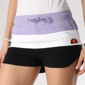 /achat-shorts-jogging/ellesse-short-jogging-femme-tricolore-stefani-fleece-sge04450-violet-blanc-noir-213917.html