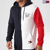/achat-sweats-zippes-capuche/tommy-hilfiger-sweat-zippe-capuche-fz-color-block-1804-bleu-marine-blanc-rouge-214417.html