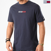 /achat-t-shirts/tommy-hilfiger-jeans-tee-shirt-embroidered-box-logo-7868-bleu-marine-214427.html
