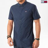 /achat-chemises-manches-courtes/tommy-hilfiger-jeans-chemise-manches-courtes-dobby-8127-bleu-marine-214434.html