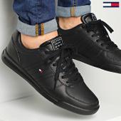 /achat-baskets-basses/tommy-hilfiger-baskets-lightweight-leather-flag-2740-black-214596.html