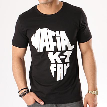 Tee shirt Mafia K1 Fry Classic Noir Logo Blanc - LaBoutiqueOfficielle.com 501c114f513