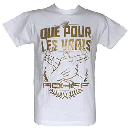 Tee shirt Rohff Blanc Que Pour Les Vrais