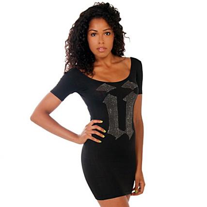 Vestido Unkut Strass Girl Negro Boca thdxrCsQ