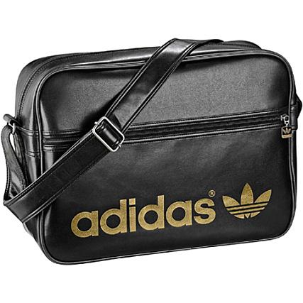 23ded63d9a Sacoche Adidas Airline Bag Noir Logo Or - LaBoutiqueOfficielle.com