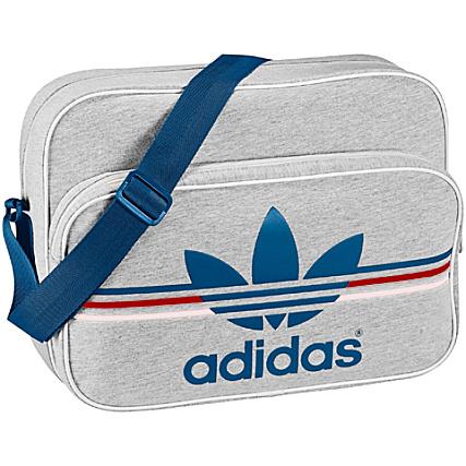 Marine Gris Tissu Sacoche Bleu Logo Chine Airline Bag Adidas L5Rj4A