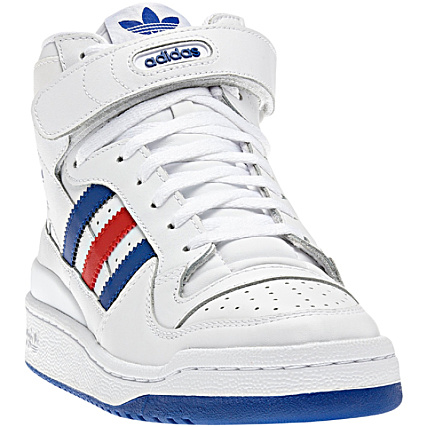 Baskets Adidas Forum Mid Noir Bandes Blanc