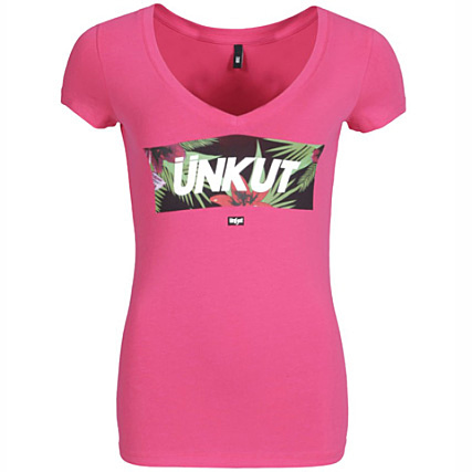 Tee Femme Shirt Rose Bright Hawaii Unkut vm8PyNn0wO