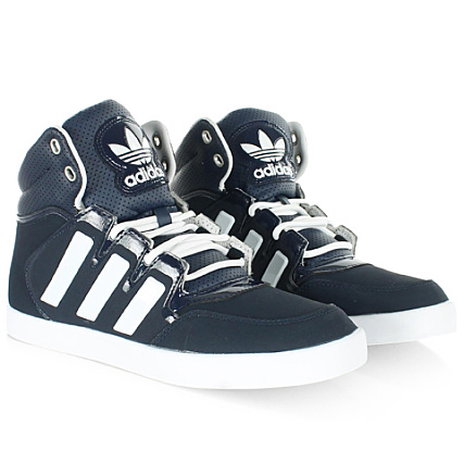 Baskets Adidas Dropstep Collegiate Navy Blanc