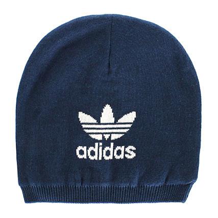 Trefoil Bleu Adidas Beanie Bonnet Marine droeBWCx