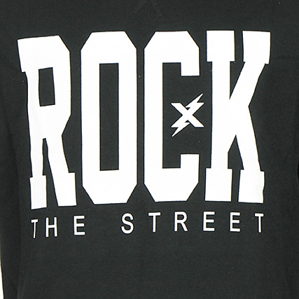Crewneck Sweat The Rockaz Rock Street Noir f6gyIv7Yb
