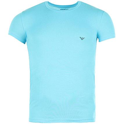 Tee Turquoise Emporio 5p745 Bleu Armani Shirt rdCeWoBx