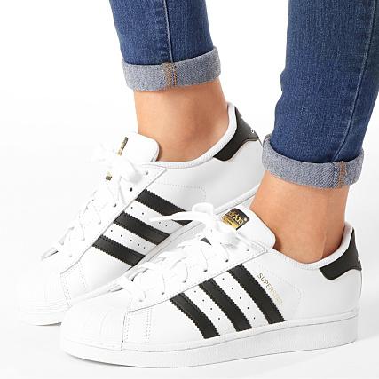 adidas - Baskets Femme Superstar C77154 Footwear White Black ...