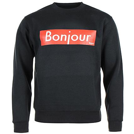 Crewneck Bonjour Noir Sweat Vald Nqnt WH9YeEDI2