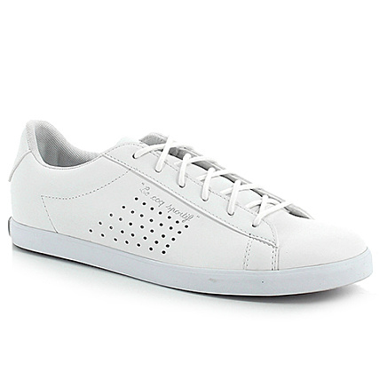 ae7c254ec09 Le Coq Sportif - Baskets Femme Agate Lo S Leather Blanc -  LaBoutiqueOfficielle.com