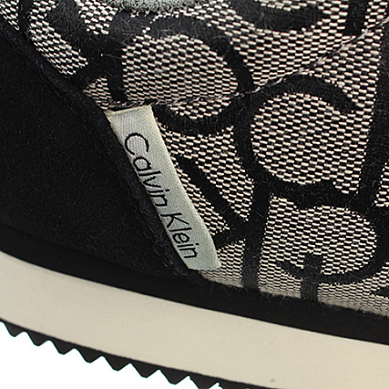 a7896c9a40 Calvin Klein - Baskets Major CK Logo Jacquard Suede Granite ...