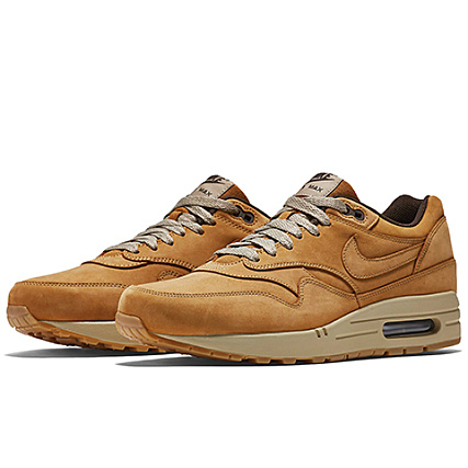 Air Max 1 Nike Camel Leather Premium Baskets QthxdCsr
