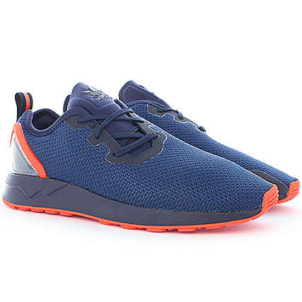 half off 962c1 5eae0 adidas - Baskets ZX Flux Adv Asym Bleu Marine Orange ...