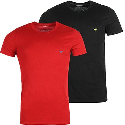 46265b7c80f Emporio Armani - Lot De 2 Tee Shirts 111267 6P712 Noir Rouge -  LaBoutiqueOfficielle.com