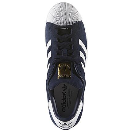 adidas superstar suede bleu marine