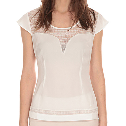 Femme Blanc Lpb Woman Shirt Tee S165505 LjMqzpUSVG
