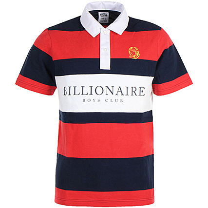 Billionaire Boys Club Polo Heavy Stripe Rouge
