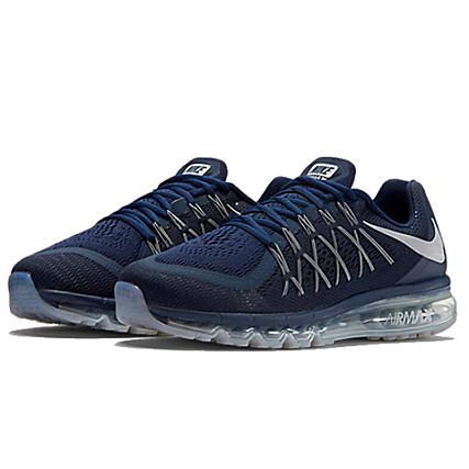 chaussures de sport fe8d0 73d21 Nike - Baskets Air Max 2015 Bleu Marine ...