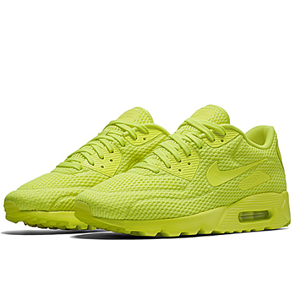 grossiste 9c554 fe366 Nike - Baskets Air Max 90 Ultra Breathe Jaune Fluo ...