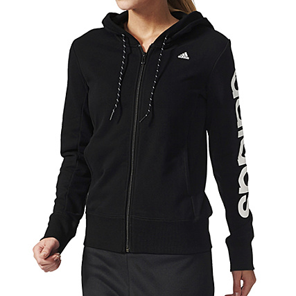 Capuche Adidas Hd Sweat Essential Noir Aj4579 Linear Zippé Femme BQdWCxoer