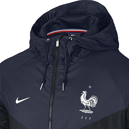 De Football Veste 727069 Bleu France De Zippée Equipe Nike edBoxC
