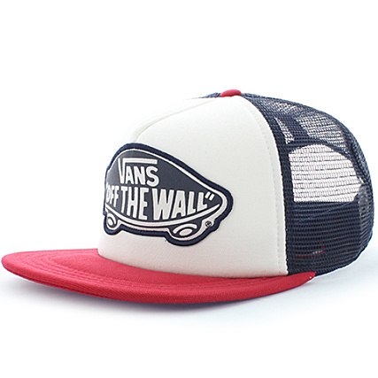 29d89514ee Vans - Casquette Trucker Beach Girl Chili Pepper Blanc Rouge -  LaBoutiqueOfficielle.com