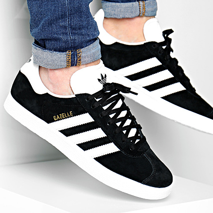 adidas Baskets Gazelle BB5476 Core Black White Gold