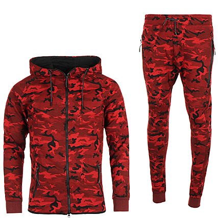 survetement nike camouflage rouge