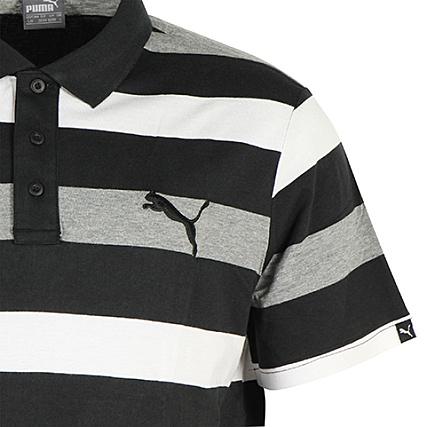 Puma Polo Manches Courtes Hero Stripe Noir