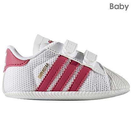 correspondant en couleur 2019 original garantie de haute qualité adidas - Baskets Bébé Superstar Crib Blanc Rose ...
