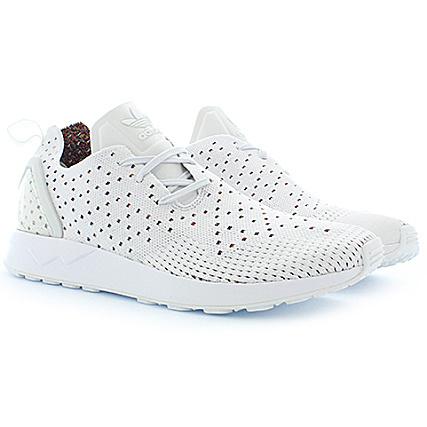 online retailer 6a017 d37ca adidas - Baskets Zx Flux ADV Asymmetrical Primeknit S76369 Crystal White  Raw Purple - LaBoutiqueOfficielle.com