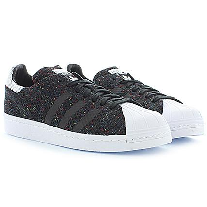 adidas Baskets Superstar 80s PK S75844 Core Black White